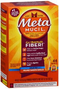 Metamucil Fiber 4-in-1 Psyllium Fiber Supplement Sugar-Free 0.2 Oz 44 Counts