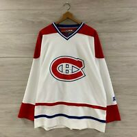Vintage Montreal Canadiens NHL Starter Hockey Jersey Size XL