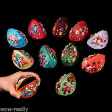 Wholesale 50pcs mix colors embroidered flower jewelry earing boxes coin purses