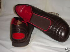 MIU MIU PRADA MENS BROWN SLIP ON LEATHER SHOES ITALY US SIZE 7,5- 8