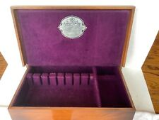 Vintage Associated Silver Co. Wooden Silverware Flatware Chest Box Tarnish Proof