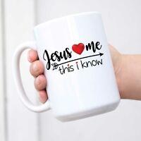 Funny Novelty Mug Jesus Loves Me Coffee Tea Cup Humour Work Office Mug Coffee
