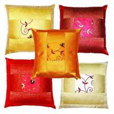 5 PC Set  Silk Cushion Pillow Cover Mandala Throw Handmade Decorative Ethnic