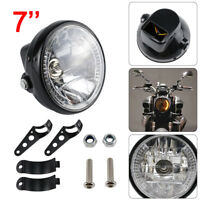 Universal 7 Inch Motorcycle Motorbike Black Headlight LED Front Light Headlamp