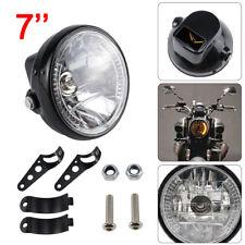 "Universal 7"" Motorcycle Motorbike Black Headlight LED Front Light Headlamp"