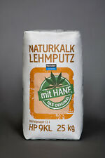 Bio-Naturkalk-Lehm-Grundputz mit Hanf 25 kg im Sack GPKLH25