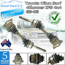 2 x CV JOINT DRIVE SHAFTS For Toyota Hilux Surf including SR5 with IFS 1987-2004