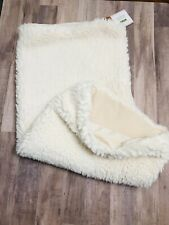 """Pottery Barn Faux Sheepskin Pillow Cover, 26"""" x 26"""" Square, Ivory, Euro"""