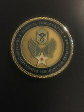 PRESENTED BY COMMAND CHEIF MASTER SERGEANT FOR EXCELLENCE CHALLENGE COIN