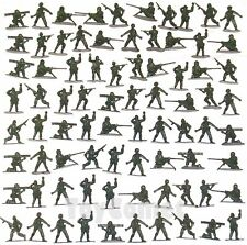 80 pcs Military Plastic Toy Soldiers Army Men Green 4.5cm Figures 6 Poses