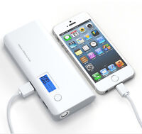 50000mAh External Power Bank Backup Portable LCD Battery Charger For Phone Grey