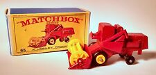 Vintage 1967 Matchbox Lesney Claas Combine Harvester No. 65 with Box