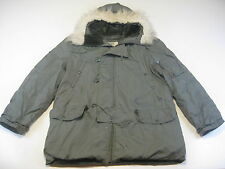 US Air Force Military N-3B Extreme Cold Weather Snorkel Parka Coat Hood Large L