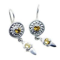 classy Citrine 925 Sterling Silver Yellow Earring genuine gemstones US gift