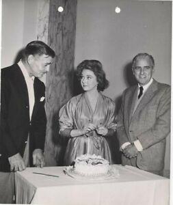 Soldier of Fortune Clark Gable birthday Susan Hayward Buddy Adler Original Photo