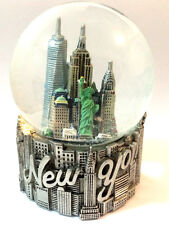 SILVER New York City Snow Globe 4 Inch (80mm) Skylines & Statue of liberty WG127