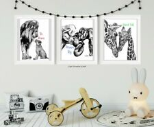 Nursery Animal Prints,Children's Wall Decor,Baby shower,Motivational Art,newborn
