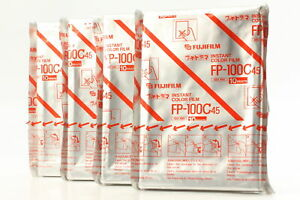【BRAND NEW 4 Packs】 FujiFilm FP-100C45 4x5 Instant Color film from japan #a57