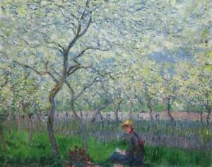 Diamond Painting Kit An Orchard In Spring Claude Monet 1886 Paint with Diamonds