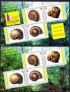 Philippines 2005 MNH SS + SS with OVP, Land Snail, Shells