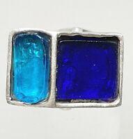 Design Silber Ring 925 Silber punziert Art Deco Stil RG 56/17,8mm /A731