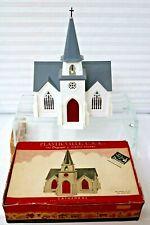 Plasticville Cathedral 1955 Original Box(Disneyland Sticker) Bell in Steeple