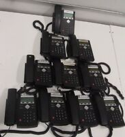Lot of (10) Polycom SoundPoint IP 321 2201-12360-001 Business Phone w/o Stands