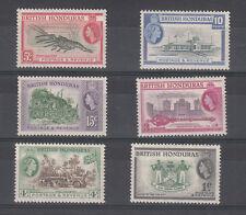 Honduras Britannico BRITISH 1953 6 PEZZI SERIE DEFINITIVA 1953 NUONI MNH** FOTO