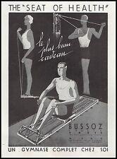 Publicité BUSSOZ  Appareils de musculation muscular Body vintage ad 1930 - 6h