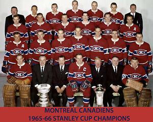 Montreal Canadiens 1965-66 Championship Team Photo