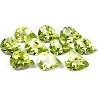 Wholesale Lot of 6x4mm Pear Facet Cut Natural Peridot Loose Calibrated Gemstone
