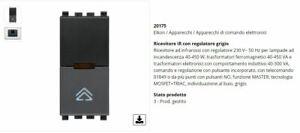 VIMAR EIKON 20175 Ricevitore IR regolatore grigio antracite regolatore infraross
