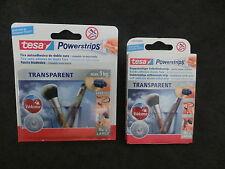 1 Pack a. 8 Stück tesa POWERSTRIPS max. 1,0kg Transparent Nr. 58810u/o58814 (BR)