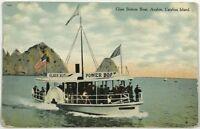Cleopatra Glass Bottom Power Boat Avalon Catalina Island California Postcard