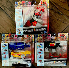 ?Hasbro 2020 MMPR Power Rangers Dino Megazord Complete Set of All Zords New?
