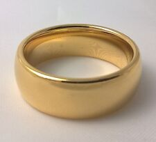 G-Filled Men's 18ct yellow gold wedding band 8mm ring comfort USA size 9 AUS S