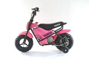 Torqi 250W Mini Bike Children Kids Electric 24V Monkey Dirt Bike Motorbike Pink