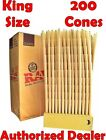 Raw Classic King Size pre rolled cone With Filter tips (200 Cones) AUTHENTIC