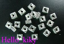 250 Pcs Tibetan silver square spacer beads 5mm A536