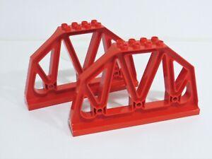 Lego Duplo Eisenbahn / zwei Geländer für Eisenbahnbrücke 3774