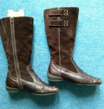 JANA Brown Suede & Leather Boots 5