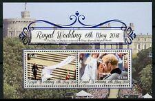 Cook Islands 2018 MNH Prince Harry & Meghan Royal Wedding 2v M/S Royalty Stamps