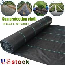 Weed Barrier Fabric Woven Earthmat Ground Cover Heavy-Duty Landscape Us