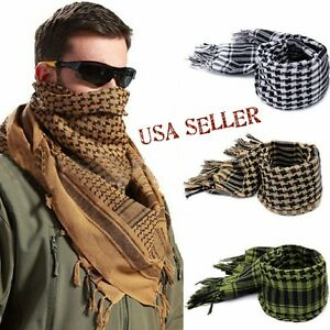 Military Shemagh Large Lightweight Arab Tactical Desert Keffiyeh Scarf Wrap