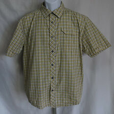 Under Armour Mens Size L Short Sleeve Shirt Button Front Top