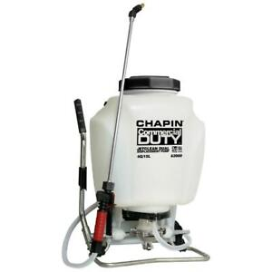 Chapin Backpack Sprayer Self-Cleaning Hand Sprayer Combo Adjustable Brass 4 Gal.
