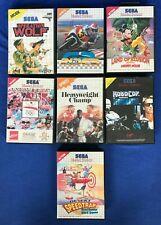 SEGA MASTER SYSTEM ORIGINAL GAMES JOB LOT JOBLOT SEVEN CLASSIC GAMES BUNDLE