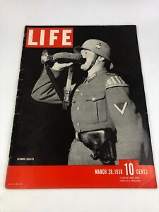 Vintage Life Magazine: German Bugler March 28, 1938 10 Cents Issue