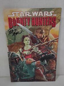Star Wars Bounty Hunters TPB Aurra Boba Fett Signed by Dave Dorman Bossk