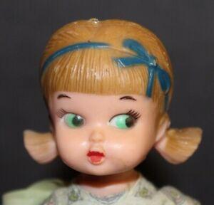 Vtg 1950's PLASTIC Ponytail Doll HONG-KONG